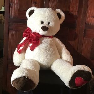 Other - White fluff plush Snow BEAR